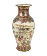 "Beautiful Chinese Satsuma Style Porcelain Vase 19"" - $247.49"