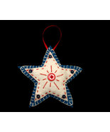 Country Handcrafted Star Felt Christmas Tree Ornament - $8.00