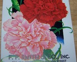 Vintage 1920s Seed packet 4 framing Carnation mixedF F Smith co Sacramento CA