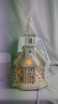 "JC Penney Home Collection Church Christmas Holidays Lighted Corded 10"" - $19.79"