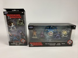 Jada D&D Dungeons & Dragons Game Die Cast Figurines Brand New 2 Set 9 Fi... - $24.75