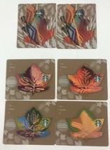 STARBUCKS Autumn Leaves and Mini Leaf Set Die Cut Gift Card 2016/2017 No... - $10.39