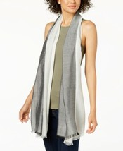Calvin Klein Chambray Colorblocked Cover-Up & Scarf (Black, One Size) - $28.96