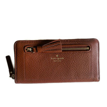 Kate Spade Neda Zip Leather Tassel Wallet ~ Port Brown ~ Chester Street ... - $79.95