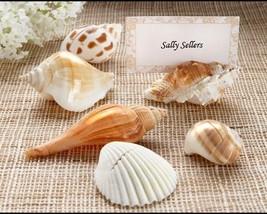Set of 6 Wedding Seashell Place Card Holder Sea Shell Authentic Receptio... - €6,19 EUR