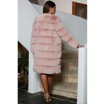 Women's High Fashion Long Faux Rabbit Fur Coat image 3