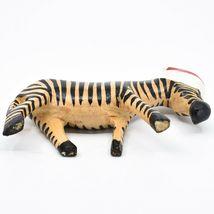 Hand Carved & Painted Jacaranda Wood Santa Hat Zebra  Safari Christmas Figurine image 5