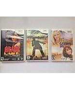 Wii Video Games: AC/DC LIVE, Def Jam Rapstar, Hannah Montana The Movie - $10.88