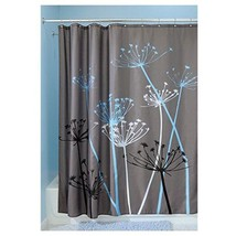 InterDesign Thistle Shower Curtain 72-Inch by 72-Inch Gray/Blue 100% polyester - $18.46