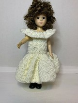 "12"" The Craft Doll Collection 1991 ASN With Hand Made Crochet Dress - $7.50"