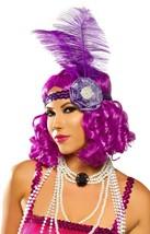 Purple Curly Flapper Costume Wig Roaring 20s Carnival Festival Mardi Gras - $19.75