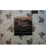 PINECONE - Lodge- Twin Size Sheet Set, Free USPS Priority Ship! - $24.74