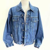 Eagles Ridge Outfitters Trucker Blue Denim Jean Jacket Large Button Fron... - $35.63