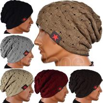 Women Men Unisex Warm Winter Skull Knitted Hat Baggy Beanie Hip-hop Cap