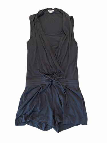 Helmut Lang Women Gray Sleeveless Summer Romper Shorts Size Small