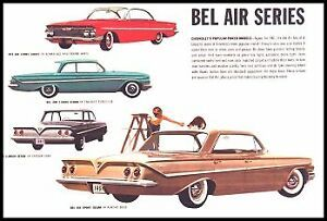 1961 Chevrolet Brochure, Impala Bel Air Biscayne Corvette Wagons, 12 pg Chevy GM