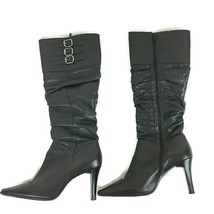 White Mt Womens Boots Size 8.5 Black Cheyenne Leather Pointy Toe - £8.53 GBP