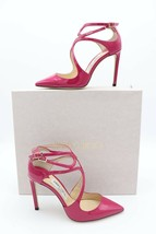NIB Jimmy Choo Lancer 100 Pink Patent Pointy Toe Strappy Pump Heel 40 10... - $345.00