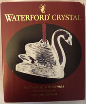 """Waterford Lead Crystal """"Seven Swans"""" Ornament Box """"12 days of Christmas"""" 2001 - $43.55"""