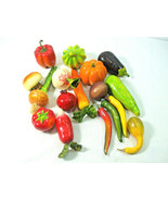 17 Pieces Assorted Artificial Garden Vegetables Life Sizes Colorful Hard... - $24.70
