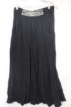 "CAROL ANDERSON Collection Black ""Gypsy""Gathered Full Skirt,Beaded Waist ... - $35.00"