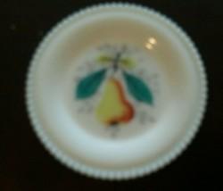 Westmoreland Milk Glass Beaded Edge Fruit Bread & Butter Plate 6 Inch Pear - $23.42