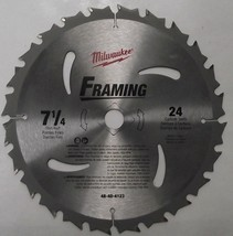 "Milwaukee 48-40-4123 7-1/4"" x 24 Tooth Circular Saw Blade Japan - $6.44"