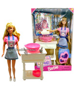 Year 1998 Barbie 12 Inch Tall Doll Set - SWEET TREATS Barbie in Kitchen ... - $84.99