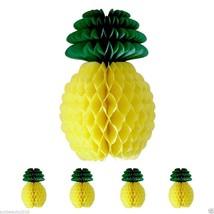Pineapple Honeycomb 5Pcs Garland Centerpiece Tropical Big Table Luau Dec... - £9.67 GBP