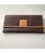 Authentic, Celine Canvas Brown Macadam Long Bi-fold Wallet - $142.45