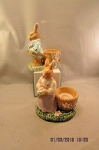 AVON SPRINGTIME COLLECTION - SET OF (2) EASTER BUNNY Candle EGG HOLDERS  - $13.99