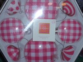 Isaac Mizrahi Pink & White Designed Glass Holiday Ornaments 8pcs   NEW 2005 - $12.99