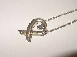 "Tiffany & Co. Paloma Picasso 925 Sterling 'Loving Heart' 16"" Pendant Necklace - $153.45"