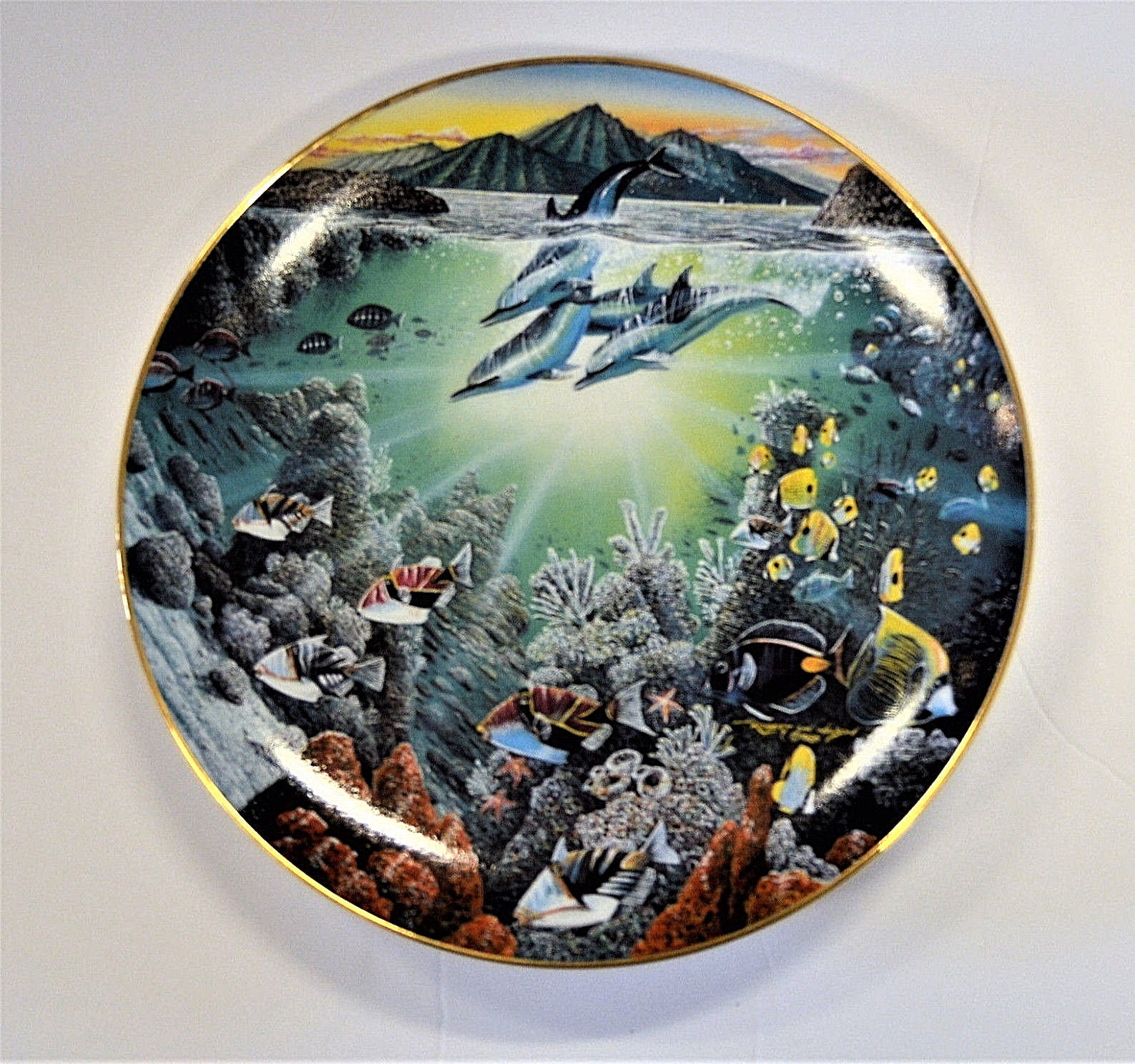 Danbury Mint Underwater Paradise Plate Set Robert Lyn Nelson with Boxes Lot of 5 image 4