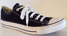 CONVERSE M9166 Chuck Taylor All Star Core Ox Black Classic Sneakers - M: 7; W: 9 - $30.29