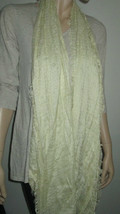 Echo Design Ivory With Metallic Frayed Ends OS 20 X 74 Scarf NEW - €13,68 EUR
