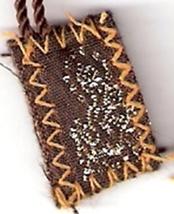 "Brown Scapular of Mount Carmel - Tiny  - 1/2"" x ¾"" image 3"