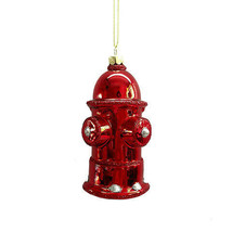 Darice Christmas Glass Ornament: Fire Hydrant, 2 x 4.5 inches w - $8.99