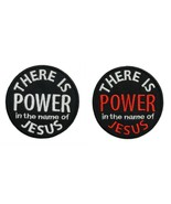 """There Is Power In The Name Of Jesus Embroidered Applique Iron On Patch 2.9"""" - $6.87+"""