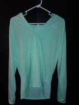 Under Armour Cold Gear Hoodie V Neck Lg Women's Shirt - $18.70