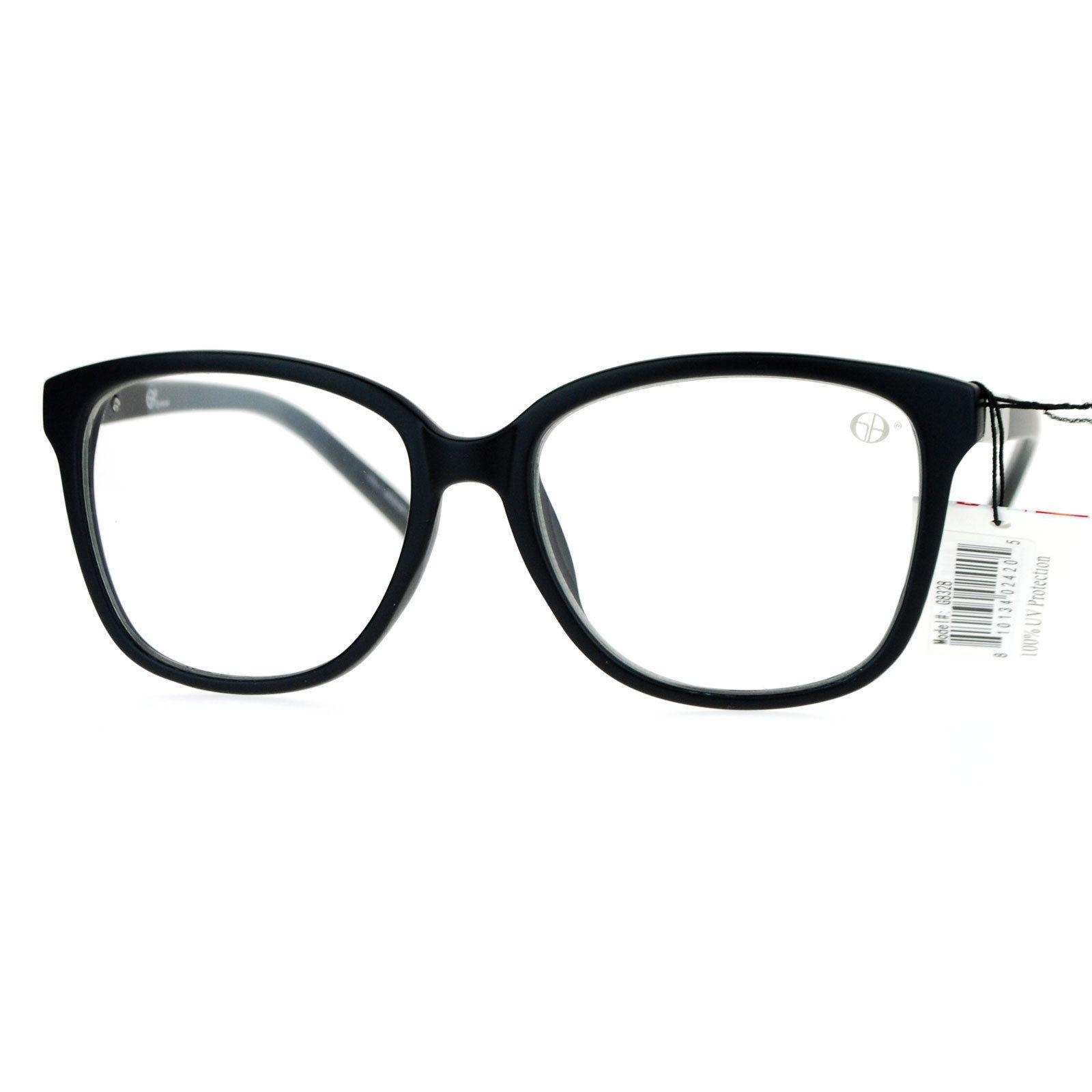 Designer Fashion Clear Lens Glasses Stylish Square Frame UV 400