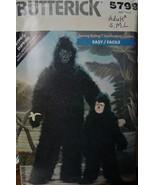 Sewing Pattern Adult S,M,L Gorilla Costume 5798 UNCUT - $12.99