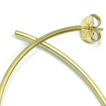 925 STERLING SILVER CIRCLE HOOPS BIG EARRINGS, 9.5cm x 2mm YELLOW SATIN FINISH image 3