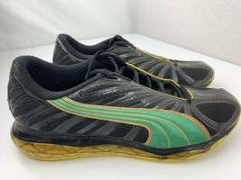 Puma Jamaica Running Men's Shoes Size 9.5 Black Green Yellow 184477-01 - $98.99
