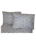 La Rochelle 100% Heathered Flannel Sheets Set Blue Abstract King Size Po... - $74.99