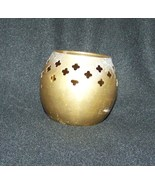 Vintage Brass candle holder or Potporri dish 2 1/2 inches tall 3.2 ounces - $13.63
