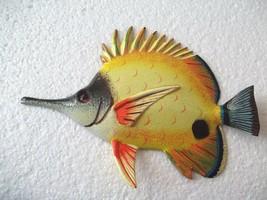 "Tropical Fish Wall Plaque Tiki Bar Beach Pool Nautical Decor Size 6.5"" T... - $11.49"