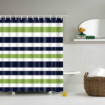 Colorful Rainbow Stripes Pattern Bathroom Curtain Decor Waterproof Polyester Eco - $29.78