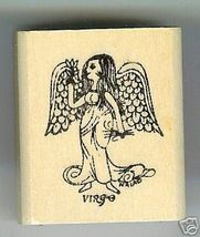 Virgo Zodiac Sign Rubber Stamp 1960's August 23 - September 22 - $13.63