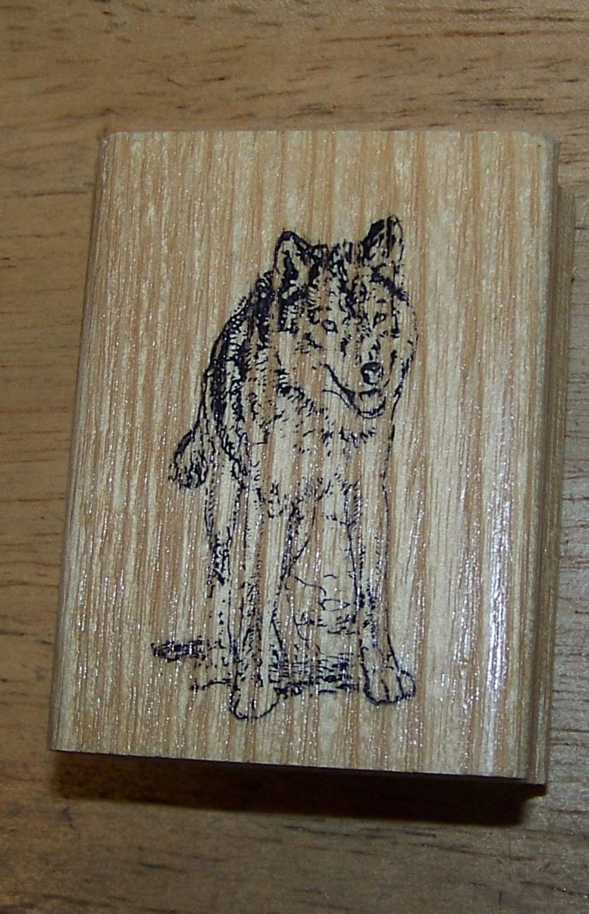 Primary image for Wolf  wILd  animal froNt viEw Rubber Stamp